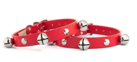 NEW Design Leather Jingle Bell Collar - Auburn Leathercrafters