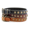 Auburn Leathercrafters Heirloom Star Dog Collar