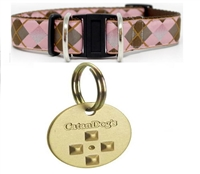 Diva Dog Safety Collar and 2-year CatanDog's Natural Flea & Tick & Mosquito Medallion Set