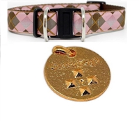 Diva Dog Safety Collar and 5-year CatanDog's Natural Flea & Tick & Mosquito Medallion Set