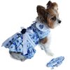 Blue Rose Harness Dress with Matching Leash XSmall-Large