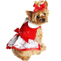 Holiday Dog Harness Dress - Candy Canes XS-LG
