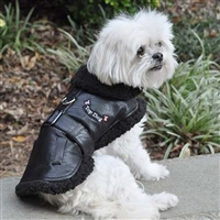 Dog Flight Jacket Harness Coat by Doggie Design Size 3-90#