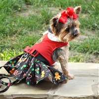 Holiday Dog Harness Dress - Gingerbread XSm-Lg