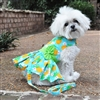 Pineapple Luau Dog Harness Dress with Matching Leash XSmall-Large
