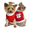 Combed Cotton Red Rudolph Holiday Dog Sweater XXS-3XLG