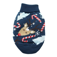 Combed Cotton Ugly Reindeer Holiday Dog Sweater XXS-3XLG