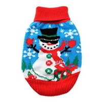 Combed Cotton Ugly Snowman Holiday Dog Sweater XXS-3XLG