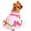 Watermelon Dog Harness Dress by Doggie Design with Matching Leash- XSm-Lg