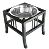 Baron Single Bowl Wrought Iron Raised Dog Feeder
