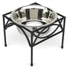 Wrought Iron Regal Raised Dog Feeder