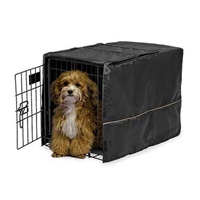 "Quiet Time Pet Crate Cover Black for 22"" Crate"