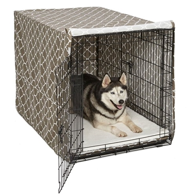 "Quiet Time Pet Crate Cover in 3 colors for 36"" Crate"