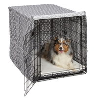 "Quiet Time Pet Crate Cover in 3 colors for 42"" Crate"