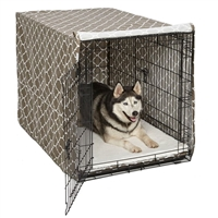 "Quiet Time Pet Crate Cover in 3 colors for 48"" Crate"