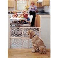 "Pressure Mounted Adjustable Mesh Pet Gate 26.5""-42"" wide"