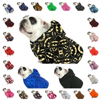 Classic Stretchable Fleece Beefy dog hoodies For Dogs 31-55#