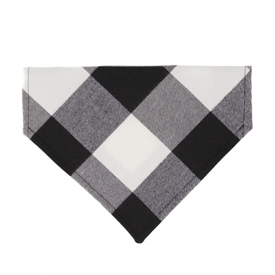 Buffalo Plaid Dog Bandana - Black & White