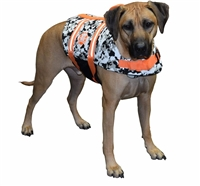 Camo Black & White Neoprene Dog Life Vest