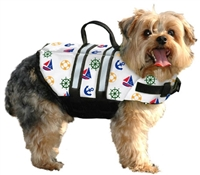 Paws Aboard Nautical Dog Life Jacket