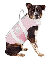 Pink/Grey Neoprene with White Trim Dog Life Jacket