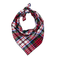 Red Tartan Flannel Plaid Dog Bandana