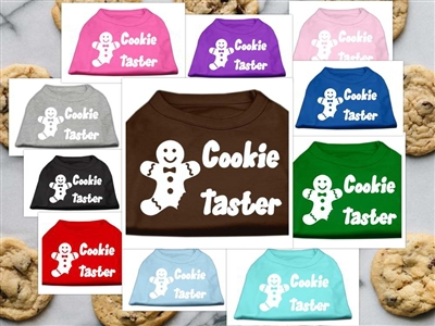 Cookie Taster Screen Print Dog T Shirts