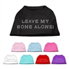 Leave My Bone Alone Rhinestone T Shirts