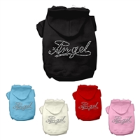 Angel Heart Rhinestone Dog Hoodies