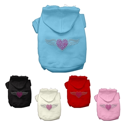 Aviator Rhinestone Dog Hoodies