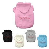 Be Mine Rhinestone Dog Hoodies