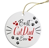 Best Cat Dad Painted Resin X Mas Ornament Free Shipping
