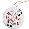 Best Dog Mom Painted Resin X Mas Ornament Free Shipping