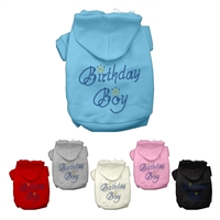 Birthday Boy Rhinestone Dog Hoodies