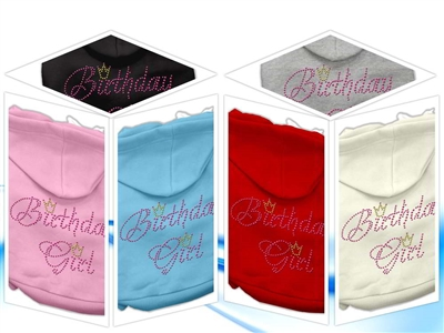 Birthday Girl Rhinestone Dog Hoodies