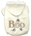 BOO Rhinestone Dog Hoodies XSm-3X-Large USA Free Ship