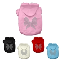 Bow Rhinestone Dog Hoodies
