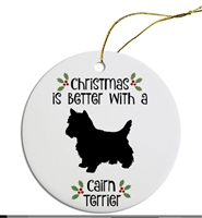 Cairn to Greyhound Dog Breed Christmas Ornament Free Ship