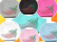 Chili Pepper Rhinestone T Shirts