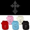 Cross Rhinestone Paw Dog Hoodies