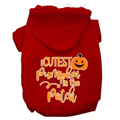 Cutest Pumpkin in the Patch Screen Print Dog Hoodie  XSm-3X-Large USA Free Ship