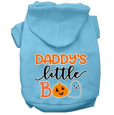 Daddy's Little Boo Screen Print Dog Hoodie-XSm-XXX-Large Free Shipping