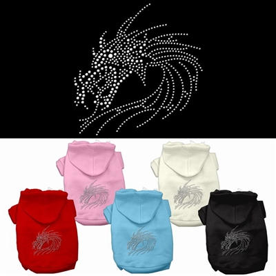 Dragon Studded Rhinestone Dog Hoodies