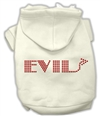 Evil Rhinestone Dog Hoodie  XSm-3X-Large USA Free Ship