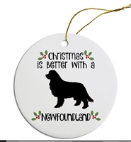 Havanese to Newfy Dog Breed Christmas Ornament Free Ship