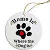 Home Is Where The Dog Is Painted Resin X Mas Ornament Free Shipping
