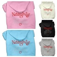 Hoodie Naughty But In Nice Way Rhinestone