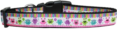 Party Monsters Nylon Dog Collar - Free Shipping