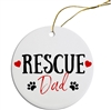 Rescue Dad Painted Resin X Mas Ornament Free Shipping
