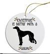 Saluki to Staffie Breed Christmas Ornament Free Ship
